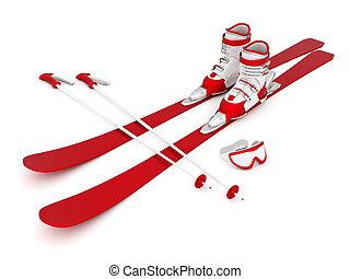 美しい, スキー