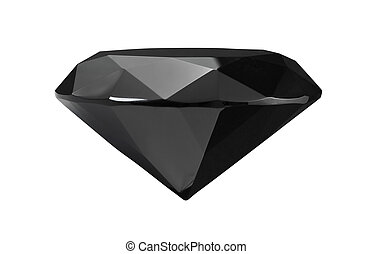 Black Diamond - Round brilliant cut black diamond a rare...