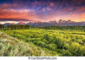 Blacktail Ponds Overlook - Colorful sunrise at Blacktail...