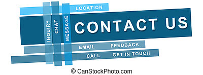 Contact Us Blue Strips - Banner image with contact us text...