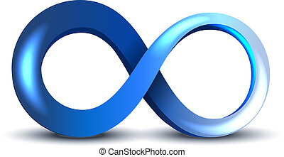 Infinity Symbol - Vector Blue Infinity Symbol on white...