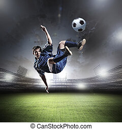Football player - Image of football player at stadium...
