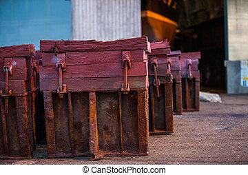 pesado, de madera, troncos