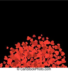 Background with red hearts