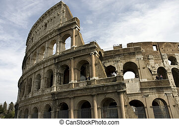 close view of the Colosseum, Rome - close view of the...