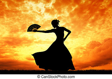 flamenco - Woman dancing flamenco