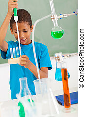 elementary school student in science class - cute elementary...