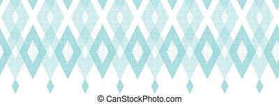 Pastel blue fabric ikat diamond horizontal seamless pattern...