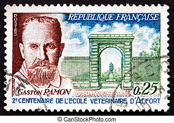 Postage stamp France 1967 Profesor Gaston Ramon - FRANCE -...