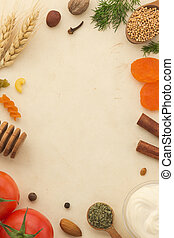 spices background and food - spices background and healthy...