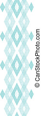 Pastel blue fabric ikat diamond vertical seamless pattern...