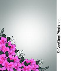 Invitation Border Pink Azaleas
