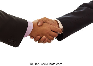 Shaking Hands - Businessmen Shaking Hands Isolated On White...