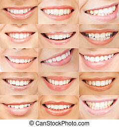 examples of female smiles - healthcare, medical and...