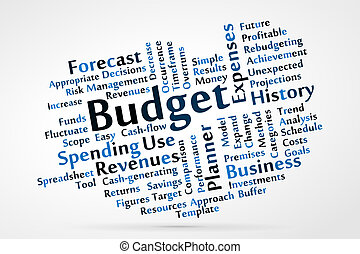 Budget word cloud vector illustration
