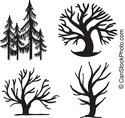 set of trees - set of different trees, simple signs