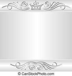 silver background with crown
