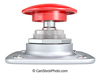Red push button. Side view.