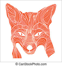 Fox animal sketch symbol - Fox animal sketch tattoo symbol...