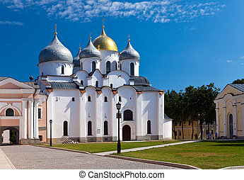Saint Sophia cathedral in Kremlin, Great Novgorod, Russia