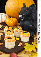 Halloween Rat with Cupcakes
