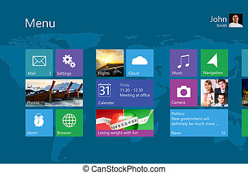 user interface - colorful flat operating system user...