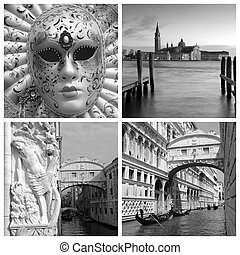 landmarks of Venice collage