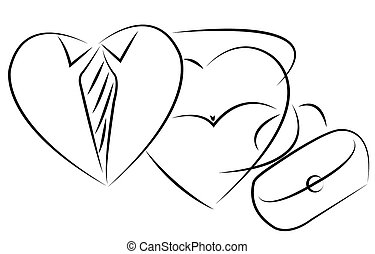 mr and mrs heart, icon vector