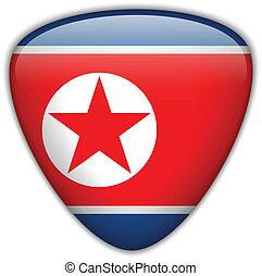 North Korea Flag Glossy Button