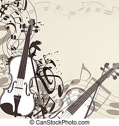 Music vector background with violin
