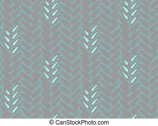 Pattern with stylized wheat and rye plant motifs - Texture...