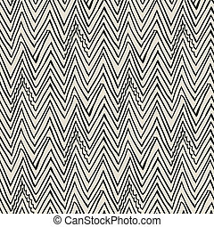Vector pattern with zigzag black lines - Simple, elegant...