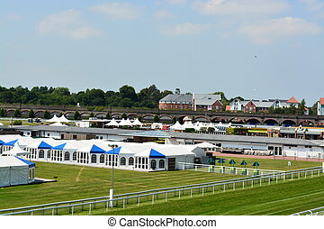 Chester race course preparing for a summer race event