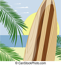 surfboard background vector