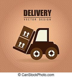 free delivery - transport seal over vintage background...