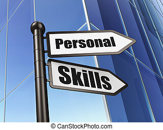 Education concept: Personal Skills on Building background