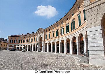 Rovato, Franciacorta, Italt - Square of Rovato in...