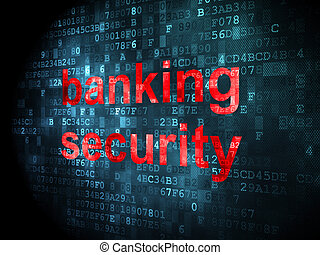 Protection concept: Banking Security on digital background -...