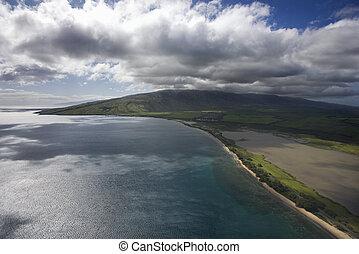 maui, 海岸, ハワイ \