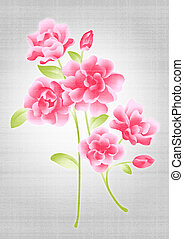 beautiful flower bouquet design - Simple background