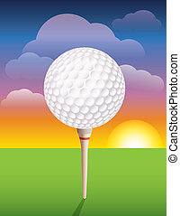 Golf Ball on Tee Background - A nice design background for a...