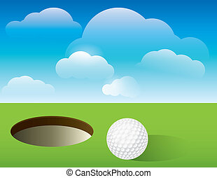 Golf Background Putting Green - A nice illustration for a...