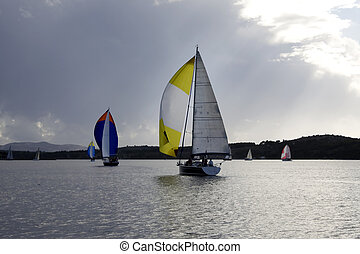 Yachts with open spinnaker