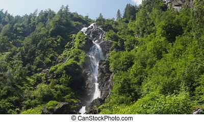 Waterfall in Austrian Alps - Common view