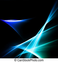 Magic neon light curved lines. Vector