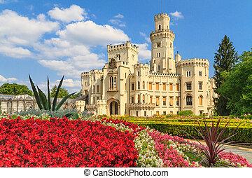 Hluboká nad Vltavou (in German Frauenberg) palace, Czech...