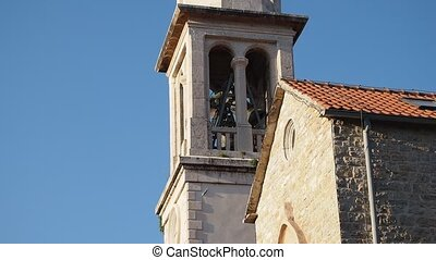 Church bells - church bell ringing in Budva old city