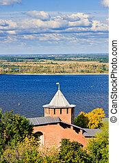 Nizhny Novgorod Kremlin, Russia - Belaya tower of Nizhny...