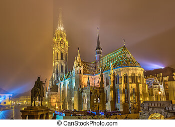 Matthias Church, Budapest - Matthias Church in Buda Castle,...