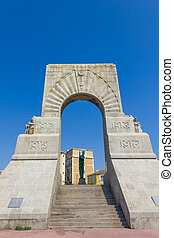 Historic War Monument in Marseilles, France